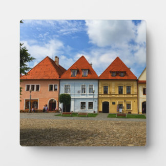 Old town houses in Bardejov, Slovakia Plaque