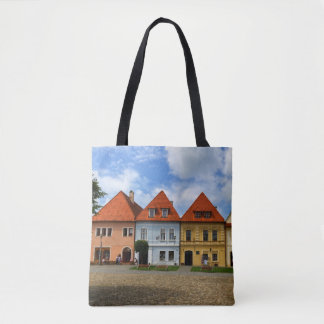 Old town houses in Bardejov, Slovakia Tote Bag