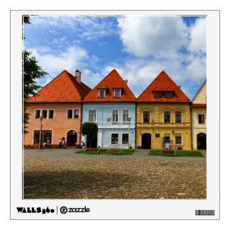Old town houses in Bardejov, Slovakia Wall Decal
