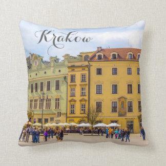 Old Town, Krakow, Poland, travel pillow