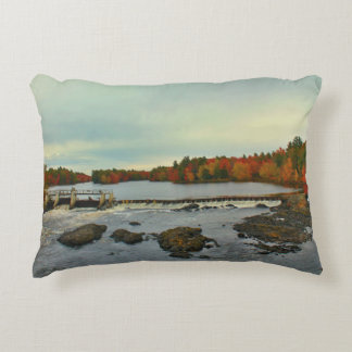 Old Town, Maine Autumn Scenery 2015 Accent Pillow