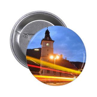 Old town of Brasov in Transylvania, Romania 2 Inch Round Button