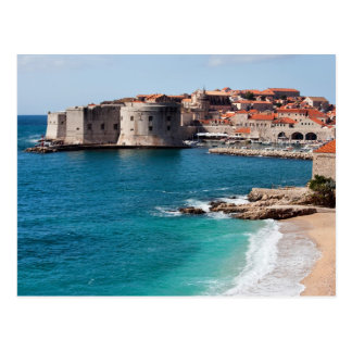 Old Town of Dubrovnik and Adriatic Sea Postcard