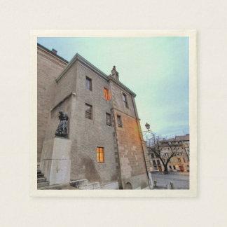 Old Town of Geneva Disposable Napkin