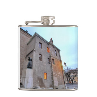 Old Town of Geneva Hip Flask