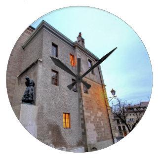Old Town of Geneva Large Clock