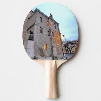Old Town of Geneva Ping Pong Paddle