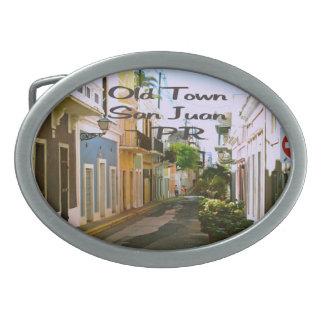 Old Town San Juan Puerto Rico Belt Buckle
