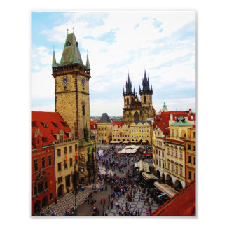 Old Town Square and Clock Tower Prague Photo Print