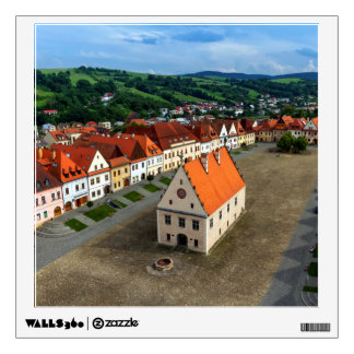Old town square in Bardejov by day, Slovakia Wall Sticker