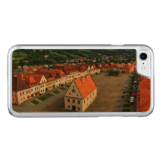 Old town square in Bardejov, Slovakia Carved iPhone 7 Case