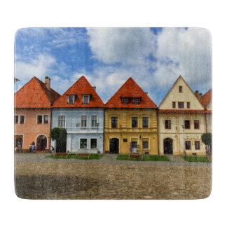 Old town square in Bardejov, Slovakia Cutting Board