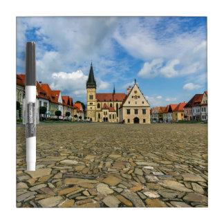 Old town square in Bardejov, Slovakia Dry Erase Board