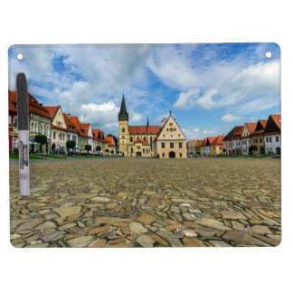 Old town square in Bardejov, Slovakia Dry Erase Board With Keychain Holder