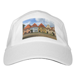 Old town square in Bardejov, Slovakia Hat