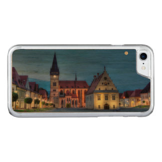 Old town square in Bardejov, Slovakia,HDR Carved iPhone 7 Case