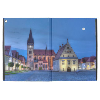 """Old town square in Bardejov, Slovakia,HDR iPad Pro 12.9"""" Case"""