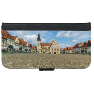 Old town square in Bardejov, Slovakia iPhone 6 Wallet Case