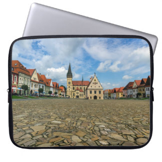 Old town square in Bardejov, Slovakia Laptop Sleeves