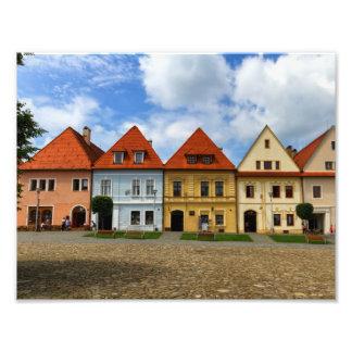 Old town square in Bardejov, Slovakia Photo Print