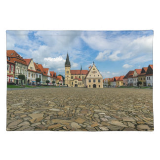 Old town square in Bardejov, Slovakia Placemat