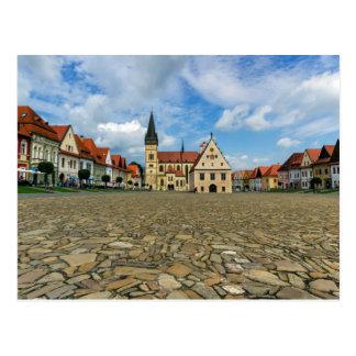 Old town square in Bardejov, Slovakia Postcard