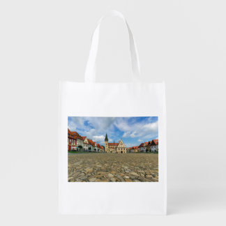 Old town square in Bardejov, Slovakia Reusable Grocery Bag
