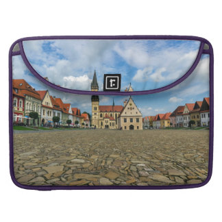 Old town square in Bardejov, Slovakia Sleeve For MacBook Pro