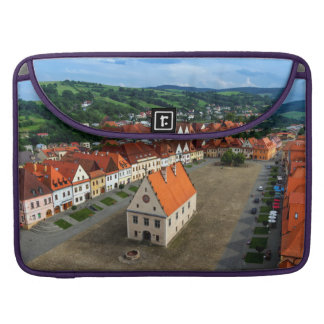 Old town square in Bardejov, Slovakia Sleeve For MacBooks
