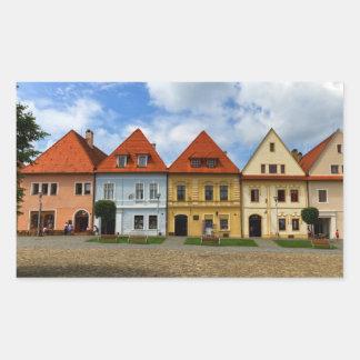 Old town square in Bardejov, Slovakia Sticker