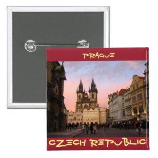 Old Town Square - Prague, Czech Republic 2 Inch Square Button