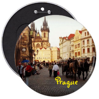 Old Town Square - Prague, Czech Republic 6 Inch Round Button