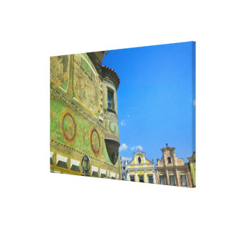 Old town square surrounded by 16th-century canvas print