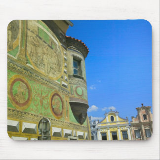 Old town square surrounded by 16th-century mouse pad