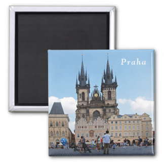 Old Town Square with a view of the Tyn Church. Magnet