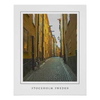 Old Town Street - Stockholm Poster