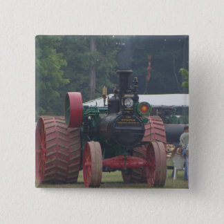 Old Tractor 2 Inch Square Button