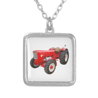 Old tractor Güldner G 75 AS Silver Plated Necklace