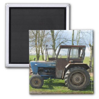 Old Tractor in Dutch landscape Fridge Magnet