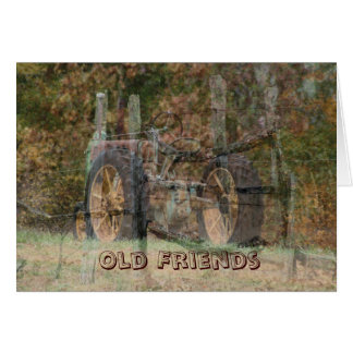 Old Tractor & Old Friends- customize Card