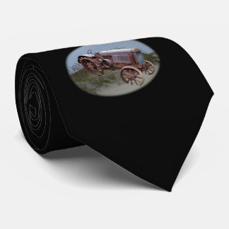 OLD TRACTOR ON DUNE-TIE TIE