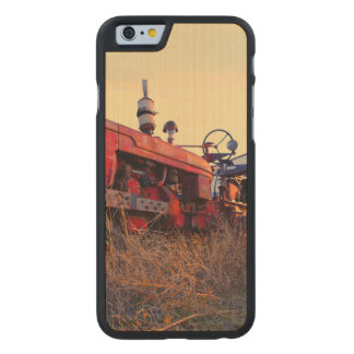 old tractor red machine vintage carved® maple iPhone 6 case