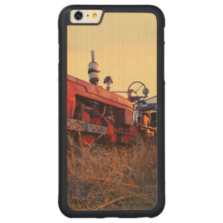 old tractor red machine vintage carved® maple iPhone 6 plus bumper case