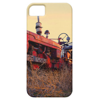 old tractor red machine vintage iPhone 5 cover