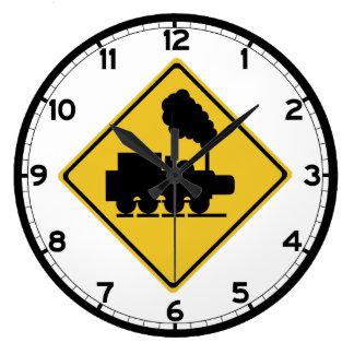 Old Train Crossing Sign, Thailand Clocks