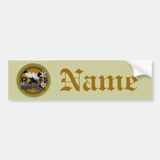 Old Train custom name Bumper Sticker