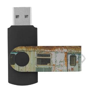 Old train swivel USB 2.0 flash drive