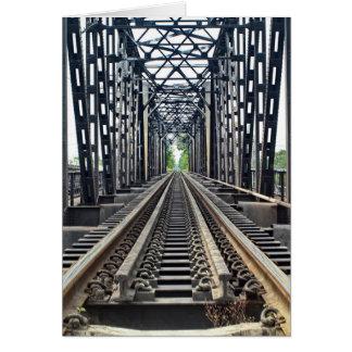 Old Train Tracks on Bridge Card