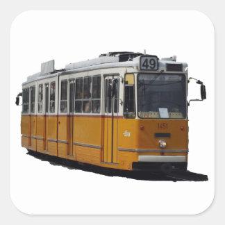 Old Tram Square Sticker