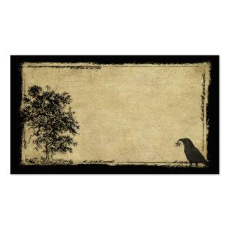 Old Tree, Crow & Star- Prim Biz Cards Business Cards